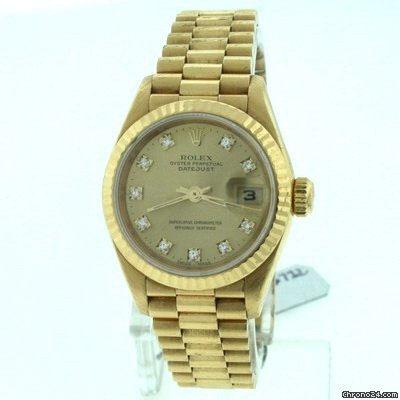 Rolex President Ladies 69178 Diamond Dial Pre-owned