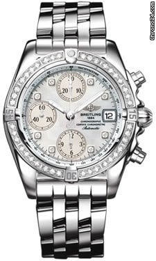 Breitling Chrono Cockpit Stainless Steel Diamonds