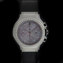 Hublot Steel Elegant Chronograph Diamond Watch 1640.144.1.024
