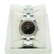 Rolex Oyster Perpetual 76080 Black Dial with Diamond Bezel
