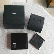 Rado schwarze Kunststoffbox und Gebrauchsanweisung