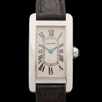 Cartier Tank Americaine 18k White Gold Ladies 1713