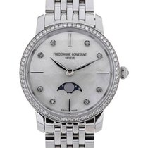 Frederique Constant Slim Line Moonphase Stainless Steel Strap...