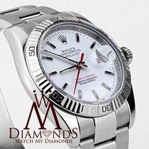 Rolex Datejust Turn-o-graph White Dial Rolex Ref 116263 Steel ...
