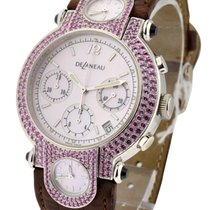 DeLaneau 3 Time Zone Chronograph with Purple Sapphire Bezel