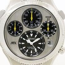Seiko Polished Seiko Kinetic Chronograph Satx003 Mens Watch...