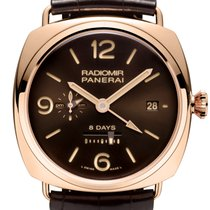 Panerai LIMITED 500 ^ NEW PAM 395 Radiomir Rose Gold GMT 8 Days