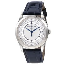 Patek Philippe Calatrava Automatic 18kt White Gold Mens Watch...