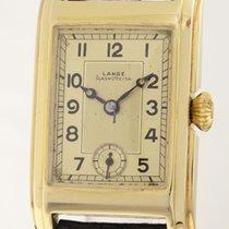 A. Lange & Söhne Art Deco Armbanduhr 14ct Gold Herren selten