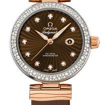 Omega 42527342063001 De Ville Automatic Gold DIamonds Ladies