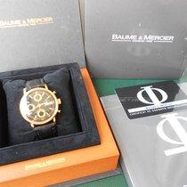 Baume & Mercier CHRONOGRAPH AUTOMATIC - GOLD 18KT/LEATHER...
