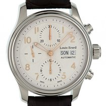 Louis Erard Heritage Day Date Chronograph Stahl Automatik  40mm