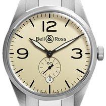 Bell & Ross BR 123 Vintage BRV 123 Original Beige Bracelet