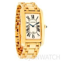 Cartier AUTOMATIC LARGE SIZE TANK AMERICAINE YELLOW GOLD ON...