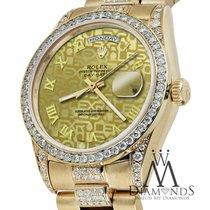Rolex Presidential Day Date Gold Jubilee Roman Diamond Watch...
