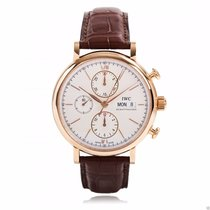 IWC Portofino Chronograph IW391020 18kt Rose Gold Silver Dial NEW