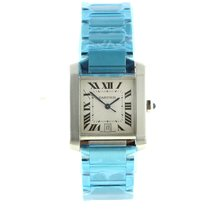 Cartier Mens Carter Tank Francaise Large Stainless Steel Watch...