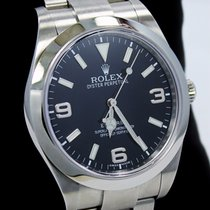 Rolex Explorer I 39mm 214270 Steel Oyster Black Dial Watch G...