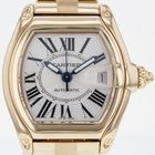 Cartier Roadster Yellow Gold Large Automatic Silver Dial...