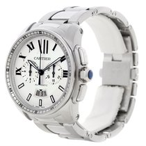 Cartier Calibre Steel Chronograph Mens Watch W7100045 Unworn