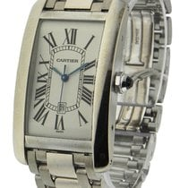 Cartier W26055L1 Tank Americaine in White Gold - Large Size -...
