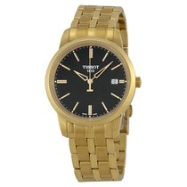 Tissot Classic Dream Black Dial Gold PVD Watch T0334103305101