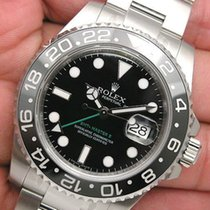 Rolex Gmt Master Ii 116710ln Mens Stainless Steel Black Dial...