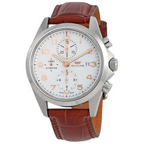 Glycine Combat White Dial Automatic Men's Chronograph Watch