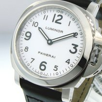 Panerai Unworn  Pam 114 Steel 44 Mm Luminor Base White Dial...