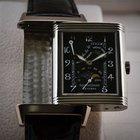 Jaeger-LeCoultre Reverso Sun Moon 18K White Gold Black Dial
