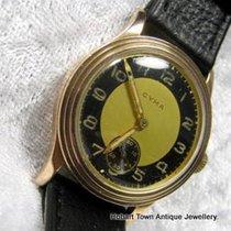 Cyma Classic Vintage Uni Sex 9ct 9k Rose Gold Stepped Case c1949