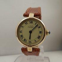 Cartier Vendome Paris lady size 24 mm cassa argento plaque
