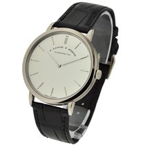 A. Lange & Söhne Saxonia Thin Mens Manual in White Gold