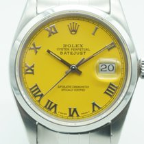 Rolex Datejust 36 Stainless Steel Jubilee Smooth Yellow Roman