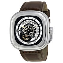 Sevenfriday P-Series Brown Leather Automatic Men's Watch