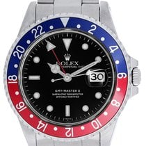 Rolex GMT-Master II Stainless Steel Red/Blue Pepsi Bezel...