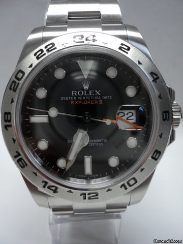 Rolex Explorer II 216570 SS Unworn with papers G Serial