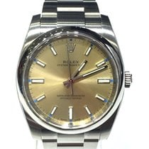 Rolex Oyster Perpetual Gold Dial 34mm 114200