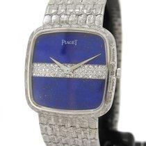 Piaget 18K White Gold 9771 A8, Orig. Diamond & Lapis Dial