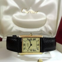Cartier Tank Must Vermeil Silver Lady Watch Roman Dial (30 x...