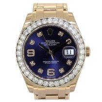 Rolex Pearlmaster 39 Rose  Gold Aubergine Diamond Dial 86285