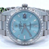 Rolex Platinum Day-date 228396 Tbr 40 Factory Ice Blue...