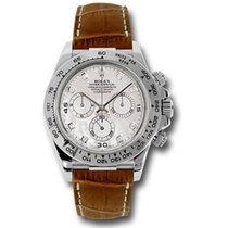 勞力士 (Rolex) Rolex Daytona White Gold - Leather Strap