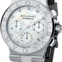 Bulgari DG35WSLDCH/9 Diagono Chronograph in Steel - on White...