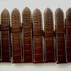 Tissot Set of 10 Tissot Brown 22mm Straps