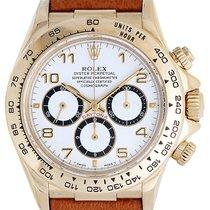 Rolex Cosmograph Daytona Men's 18k Yellow Gold Watch 16518