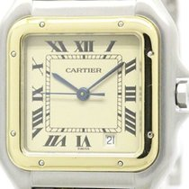 Cartier Panthere 18k Gold Steel Quartz Mid Size Watch 187949...