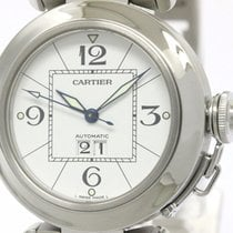 Cartier Pasha C Big Date Steel Automatic Unisex Watch W31055m7...