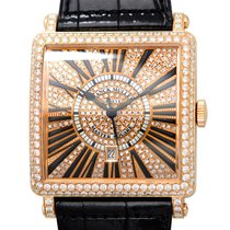 Franck Muller New  Master Square 18 K Rose Gold With Diamonds...