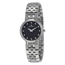 Movado Faceto Diamond Black Dial Stainless Steel Ladies Watch...